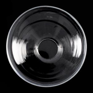 Tazza coppa in cristallo di Boemia. Ø12 cm, h5 cm. Bobeche per restauri e illuminazione vintage.