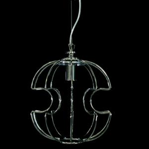 Telaio metallico cablato per sospensione modello Sfera Ø 30 cm cromo