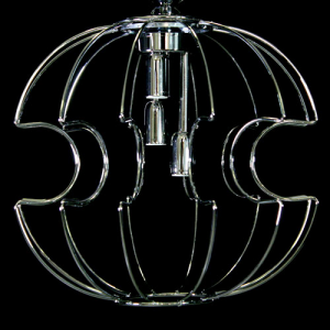 Telaio metallico cablato per sospensione modello Sfera Ø 40 cm cromo con cavo 120 cm