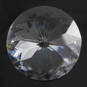 Tondo da 40 mm a due fori cristallo -Asfour 1040-