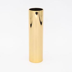 Tubo cover guscio copri portalampade metallico finitura oro lucido Ø30x100 mm