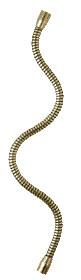 Tubo flessibile in ferro grezzo 10 mm lunghezza 40 cm con estremità femmina M10 su entrambi i lati.