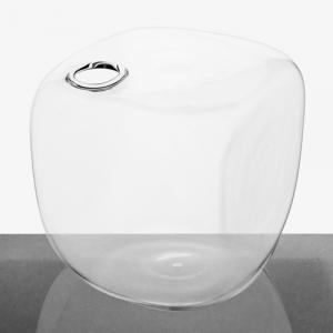 Vaso a cubo in vetro 14 cm cristallo trasparente, porta fiore, diffusore porta essenze