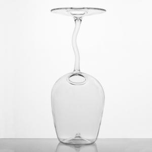 Vaso da fiori a calice 22 cm in cristallo trasparente. Porta fiore, diffusore porta essenze, decorazione per giardino