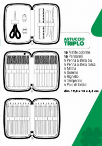 Trolley Astuccio Triplo Diario Cuccioli cerca amici TRUDI Auguri Preziosi
