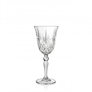 Set 6 Calici vino bianco in vetro trasparente, CL 21, Melodia