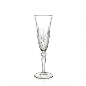 Set 6 Calici Flute in vetro trasparente, CL16, Melodia