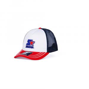 Starter® Caps Unisex: WHITE-RED-BLUE