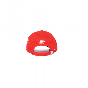 Starter® Caps Unisex: RED WITH SIDE PRINT