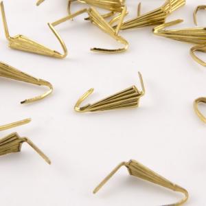 Clip a punta bordata 12 mm, finitura oro-ottone per catene di cristalli.