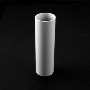 Tubo cover guscio copri portalampade metallico finitura bianco laccato Ø30x100 mm
