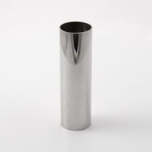 Tubo cover guscio copri portalampade metallico finitura nikel lucido Ø30x100 mm