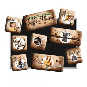 Set 9 magneti Coffee House