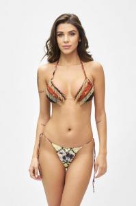 Bikini Triangolo e slip laccetto brasiliano regolabile Desert Effek