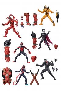 Marvel Legends Series Venompool: SERIE COMPLETA (Venompool BAF) by Hasbro