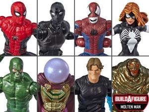 Marvel Legends Spider-Man: SERIE COMPLETA (Molten Man BAF) by Hasbro