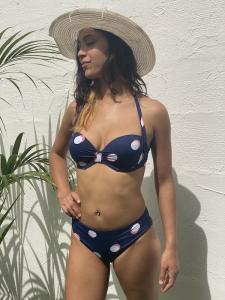 Bikini Gisela Pois con slip e fascia con coppa e bretelle 3C/3D/4D/5D