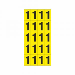 Numeri adesivi 15x25