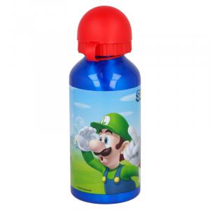 Borraccia in allumino Super Mario con portamerenda e tovaglietta Super Mario