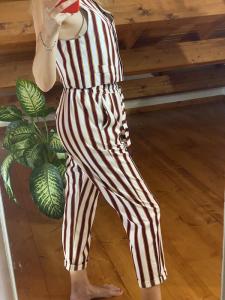 Pantaloni Righe Tensione In