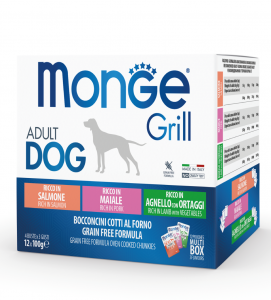 Monge Dog - Grill - Multibox - Adult - 12 buste da 100g