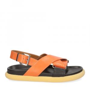 Anna de Bray Sandalo R305 pelle arancione-2