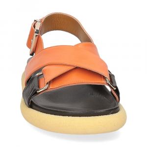 Anna de Bray Sandalo R305 pelle arancione-3