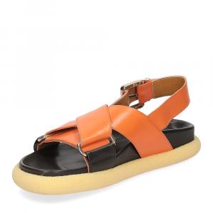 Anna de Bray Sandalo R305 pelle arancione-4