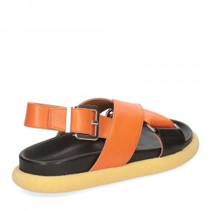 Anna de Bray Sandalo R305 pelle arancione-5