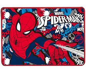 Borraccia in allumino con portamerenda e tovaglietta Spiderman