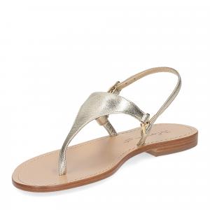 De Capri a Paris sandalo infradito triangolo pelle platino-4