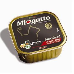 MIOGATTO STERILIZZATO MANZO/ORTAGGI 100G