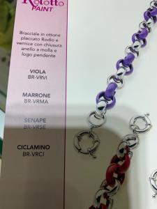 Bracciale donna Rolotto Colore Argento/Marrone cod.BR-VRMA