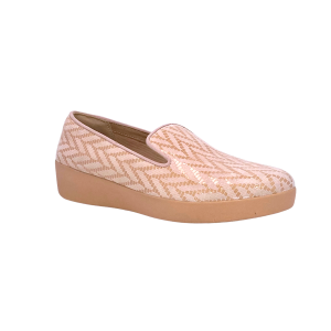 FitFlop - AUDREY CHEVRON-SUEDE - LOAFERS - Rosa perla