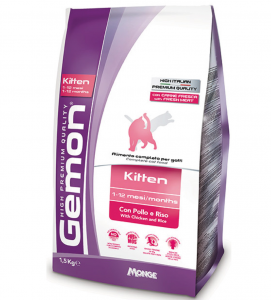 Gemon Cat - Kitten - Pollo e Riso - 1.5 kg