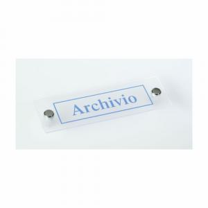 Cartello in plexiglass Plexline scritta Archivio
