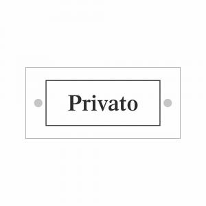 Cartello in plexiglass Plexline scritta Privato