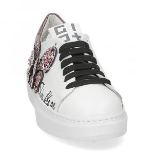 Gio+ G510B farfalla pelle bianca-3