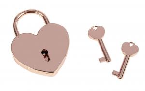 Lucchetto cuore rosa con chiavi