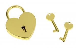 Lucchetto cuore oro con chiavi