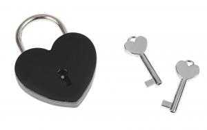 Lucchetto cuore nero con chiavi