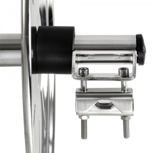 Aft rope winder in polished stainless steel