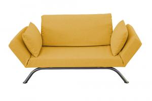 Divano Letto 2 Posti moderno di Design Scandinavo Braccioli regolabili con Cuscini | LIV