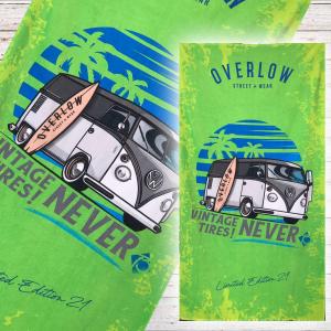 Beach Towel Surfing OVERLOW - Verde
