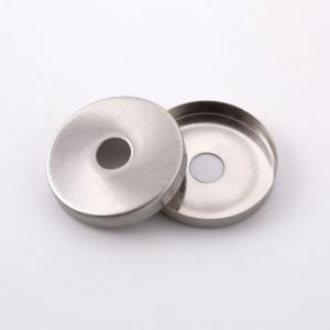 Centratubo nickel spazzolato a dischetto Ø 40 mm con foro Ø 10 mm