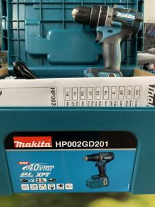 TRAPANO AVVITATORE MAKITA A BATTERIA C/PERC. 40Vmax HP002GD201