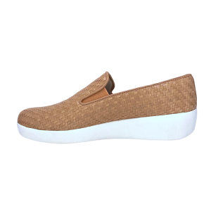 FitFlop - SUPERSKATE TM LOAFERS WOVEN LEATHER - Nude