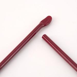 Bacchetta in Vetro di Murano L 33 cm Ø 8/9 mm colore ROSSO PORPORA SCURO pastello