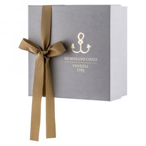 Set 3 pezzi in Giftbox GCV   Striche Arancio e Oro