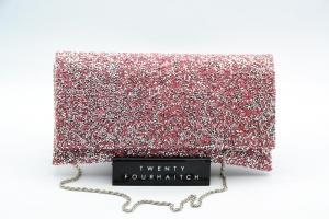 Twenty Fourhaitch-Pochette Donna Ely-Cristal/Pink